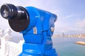 望远镜看到的贝尼多姆湾 — 图库照片