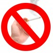 Stop smoking sign — Stockfoto