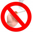 Foto Stock: Stop smoking sign