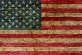 American flag overlaid with grunge texture — Stock Photo