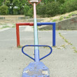 Stock Photo: One teeter saturated with color, shot in playground