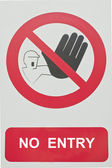 No entry traffic sing — Stock Photo