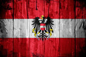 Austrian flag overlaid with grunge texture — Stock Photo