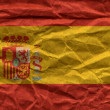 Spain flag overlaid with grunge texture — Stock Photo