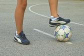 Giocatore di calcio — Foto Stock