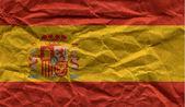 флаг испании, обложил с грандж текстуры — Стоковое фото