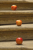 Three red apples — Stockfoto