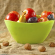 Fruit in bowl — Stock Photo