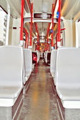 Tram interior — Stock Photo