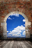 Door to sky — Stock Photo