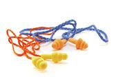 Rubber earplugs — Stock Photo