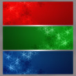 Snowflake banner - Stock Photo