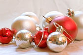 Red and silver balls — Stock Photo