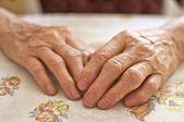 Vrouw de hand — Stockfoto