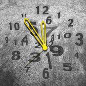 Серые часы — Стоковое фото