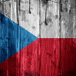 Czech Republic grunge Flag — Stock Photo