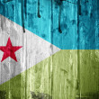 Djibouti grunge flag - Stock Photo