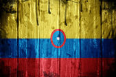 Columbian flag — Stock Photo