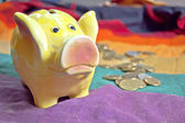 Ceramic piggy coin bank — Stock Photo