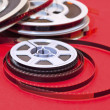 Cine film  reels - Stock Photo