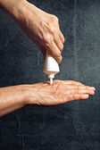 Cream for hands — Stock Photo