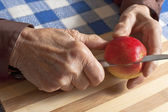 Old woman hands — Stock Photo