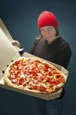 Delivery pizza — Stock Photo