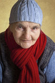 Portrait of a smiling elderly woman — Stock Photo