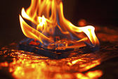 Computer hard disk on fire — Stock Photo