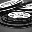 Stock Photo: 8mm cine film reels