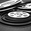 8mm cine film reels — Stock Photo