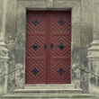 Stock Photo: Old wooden door.
