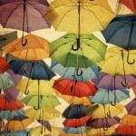 Colorful umbrella street decoration. — Stock Photo #44447311