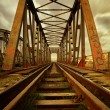 Old railroad bridge — Stock Photo