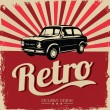 Royalty-Free Stock Vector Image: Vintage Car design flyer