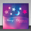 Colorful Christmas card with copy space — Stock Vector