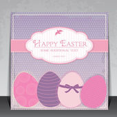Elegant vintage Easter vector card — Stock Vector
