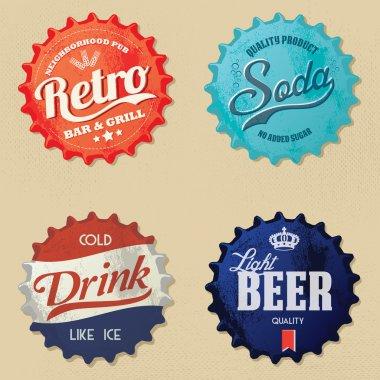 Retro bottle cap Design - Vintage bottle caps