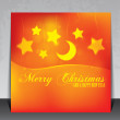 Beautiful Christmas card with copy space — Stock Vector