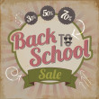 Vintage back to school sale brochure vector illustration — Stock Vector