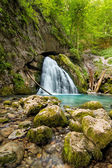 Beautiful cascade in Transylvania, Romania, Western Carpathians — Stock Photo