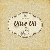 Vintage elegant Olive oil label or brochure — Stock Vector