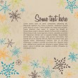 Retro blank with winter pattern brochure flyer  — Векторная иллюстрация
