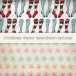 Stock Vector: Vintage Christmas pattern vectors