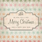 Merry Christmas greeting card ornament decoration background. — Stock Vector