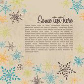 Retro blank with winter pattern brochure flyer — Stock Vector