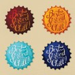 Stock Vector: Retro bottle cap Design - Vintage bottle caps