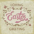 Stock Vector: Vintage style Easter greeting card.
