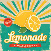 Colorful vintage Lemonade label poster vector illustration — Stock Vector
