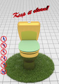 Keep it clean! 3d — Stockfoto